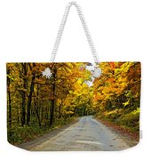 Follow The Yellow Leafed Road Painted Weekender Tote Bag