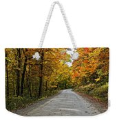 Follow The Yellow Leafed Road Weekender Tote Bag