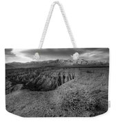 Font's Point Bush   Black And White Weekender Tote Bag