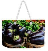 Food - Farm Fresh - Eggplant And Peppers Weekender Tote Bag