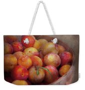 Food - Peaches - Farm Fresh Peaches  Weekender Tote Bag by Mike Savad