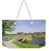 Foot-bridge And Lake - Barton Marina Weekender Tote Bag