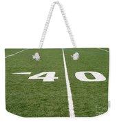 Football Field Forty Weekender Tote Bag