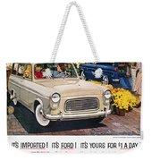 Ford Avertisement, 1959 Weekender Tote Bag