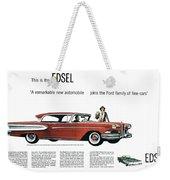 Ford Cars: Edsel, 1957 Weekender Tote Bag