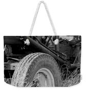 Ford Tractor Details In Black And White Weekender Tote Bag