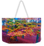 Forest Color Leaves Weekender Tote Bag