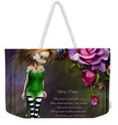 Forest Fairy Jn The Rose Garden Weekender Tote Bag