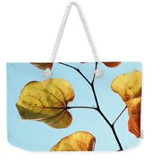 Forest Pansy Autumn Weekender Tote Bag
