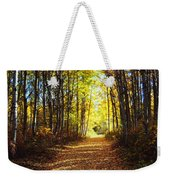 Forest Path In Autumn Weekender Tote Bag