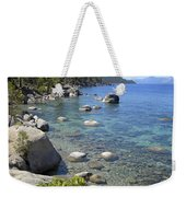 Forested Shores Of Lake Tahoe Weekender Tote Bag