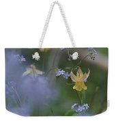 Forget-me-not And Yellow Columbine Weekender Tote Bag