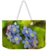 Forget-me-not Flower Weekender Tote Bag
