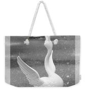 Forsyth Fountain - Black And White 3 Weekender Tote Bag