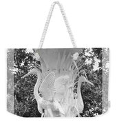 Forsyth Fountain - Black And White 4 Weekender Tote Bag