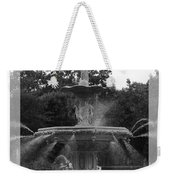 Forsyth Park Fountain - Black And White Weekender Tote Bag