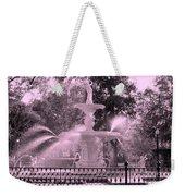 Forsyth Park Fountain In Pink Weekender Tote Bag
