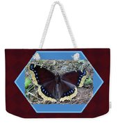Foster Dad Father's Day Card - Mourning Cloak Butterfly Weekender Tote Bag