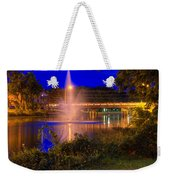 Fountain And Bridge At Night Weekender Tote Bag