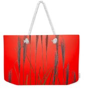 Fountain Grass In Red Weekender Tote Bag