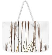 Fountain Grass In White Weekender Tote Bag by Steve Gadomski