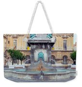 Fountain In Arles France Weekender Tote Bag