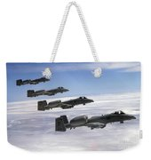 Four A-10 Thunderbolt IIs Fly Weekender Tote Bag