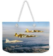 Four F-5 Tiger IIs Fly Above Southern Weekender Tote Bag