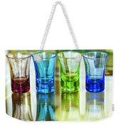 Four Vodka Glasses Weekender Tote Bag