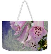 Fox Glove Blue Grunge Weekender Tote Bag by Bill Cannon