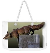 Fox On A Pedestal Weekender Tote Bag