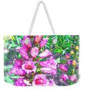 Foxglove Floral Weekender Tote Bag