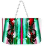 Fractal 29 Christmas Ribbons Weekender Tote Bag