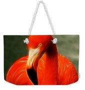 Fractalius Flamingo Weekender Tote Bag