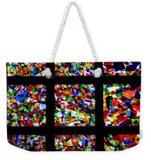 Fractured Squares Weekender Tote Bag by Meandering Photography