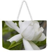Fragrant White Gardenia Blossom Weekender Tote Bag