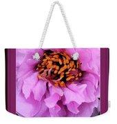 Framed In Purple - Abstract Floral Weekender Tote Bag