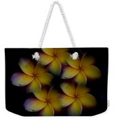 Frangipani Circle Of Color Weekender Tote Bag