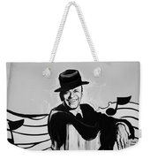 Frank In Black And White Weekender Tote Bag