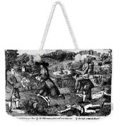 Franklin: Cartoon, 1764 Weekender Tote Bag