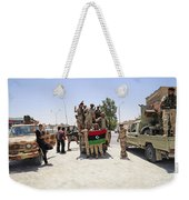Free Libyan Army Troops Pose Weekender Tote Bag