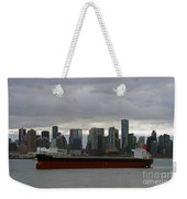 Freighter In Port Weekender Tote Bag