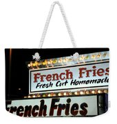 French Fries Sign Weekender Tote Bag