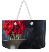 French Horn With Gladiolus Weekender Tote Bag