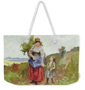 French Peasants On A Path Weekender Tote Bag by Daniel Ridgway Knight