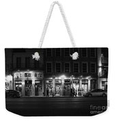 French Quarter Shopping At Night - Black And White Weekender Tote Bag