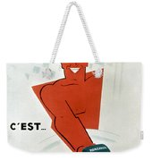 French Soap Advertisement Weekender Tote Bag