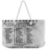 French/dutch Dictionary Weekender Tote Bag