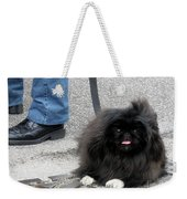 Frenchman And His Dog Weekender Tote Bag