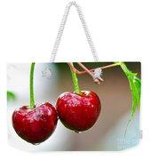 Fresh Wet Cherries Weekender Tote Bag